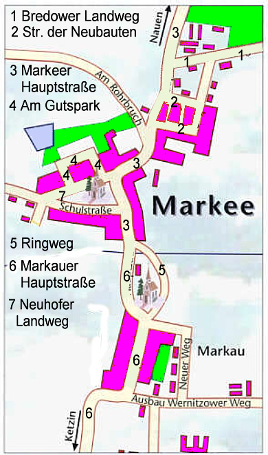 Markee im Jahre 2008. / the districts of the city in the year 2008.